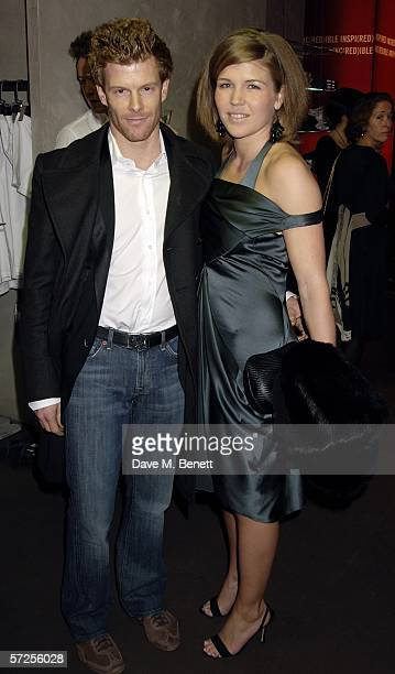 Tom Aikens and Amber Nuttall attend the Giorgio Armani Spring Preview show previewing spring Emporio Armani 2006 collection alongside latest lingerie...