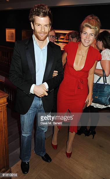Tom Aikens and Amber Nuttall attend the Graff charity auction and reception in aid of FACET at Christie's on October 12 2009 in London England