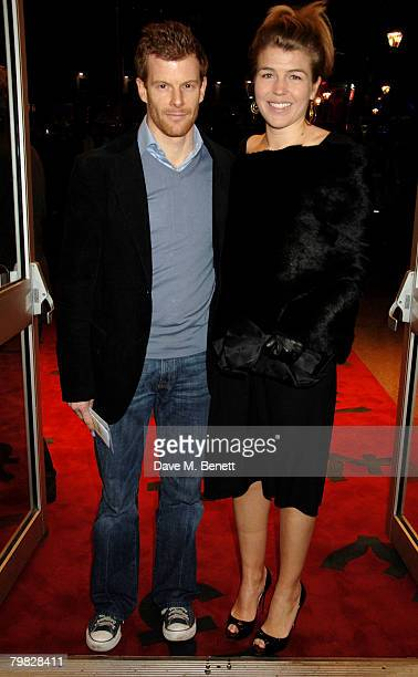 Tom Aikens and Amber Nuttall attend the world premiere of The Bank Job at the Odeon West End on February 18 2008 in London England