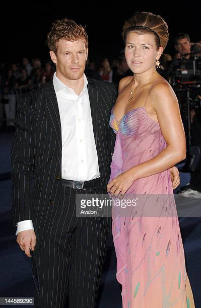 Tom Aikens and Amber Nuttall attending the Emporio Armani fashion show during London Fashion Week spring / summer 2007 Earls Court London 21st...