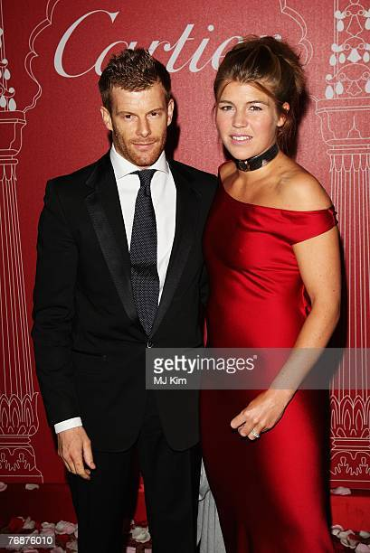 Tom Aikens and Amber Nuttall attends the Cartier International Jewellery Launch Night held at Lancaster House on September 19 2007 in London