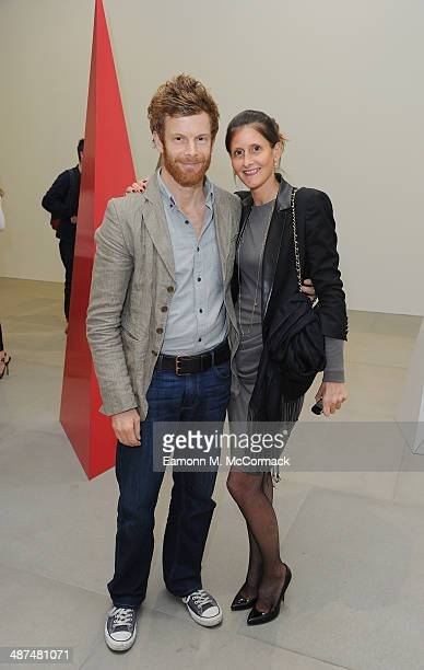 Tom Aikens and Justine DobbsHigginson attend the private view for Lynn Chadwick RetrospectivesÊatÊBlain Southern London on April 30 2014 in London...