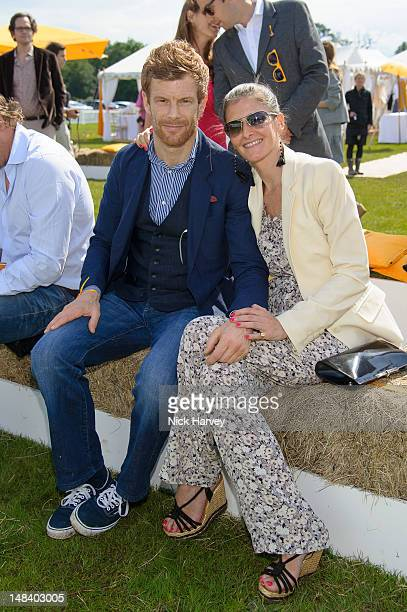 Tom Aikens and Justine DobbsHigginson attend the Veuve Clicquot Gold Cup Final at Cowdray Park Polo Club on July 15 2012 in Midhurst England