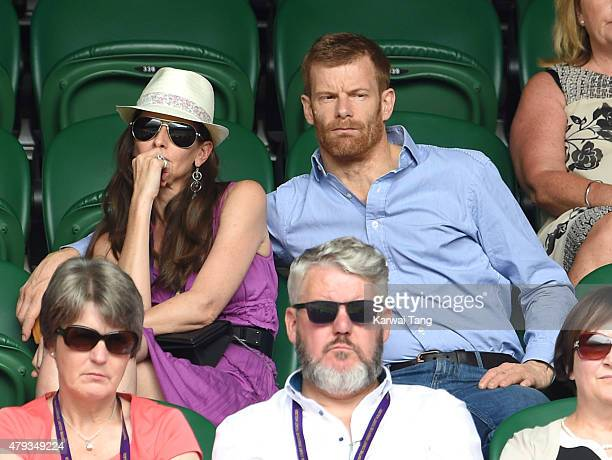Tom Aikens attends the Novak Djokovic v Bernard Tomic match on day five of the annual Wimbledon Tennis Championships at Wimbledon on July 3 2015 in...