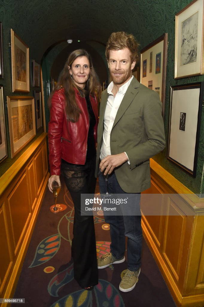 Tom Aitken (R) and guest attend the Conde Nast Traveller 20th anniversary after party at Annabel's on October 9, 2017 in London, England.