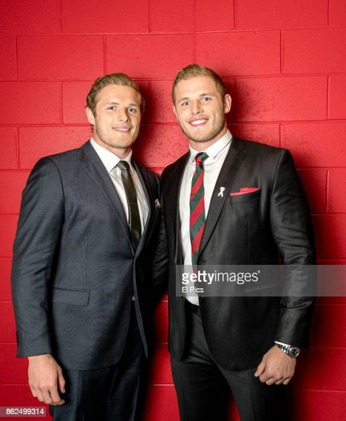 Tom and George Burgess pose for a portrait backstage at he Footy Show Grand Final edition at Darling Harbour on September 28 2017 in Sydney Australia