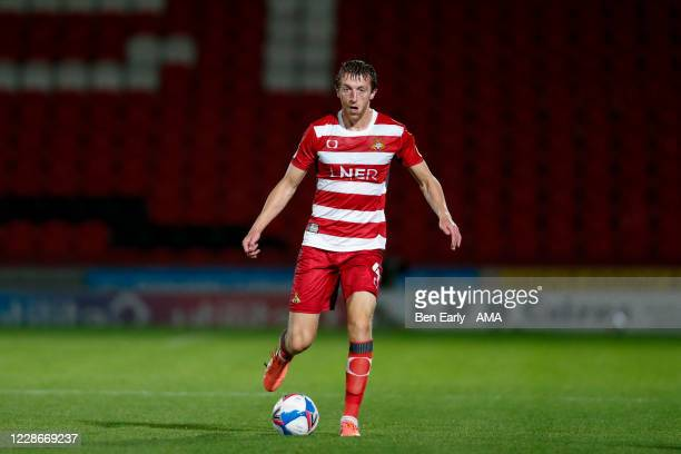 Tom Anderson of Doncaster Rovers during the EFL Trophy match between Doncaster Rovers v Bradford City at Keepmoat Stadium on September 8 2020 in...