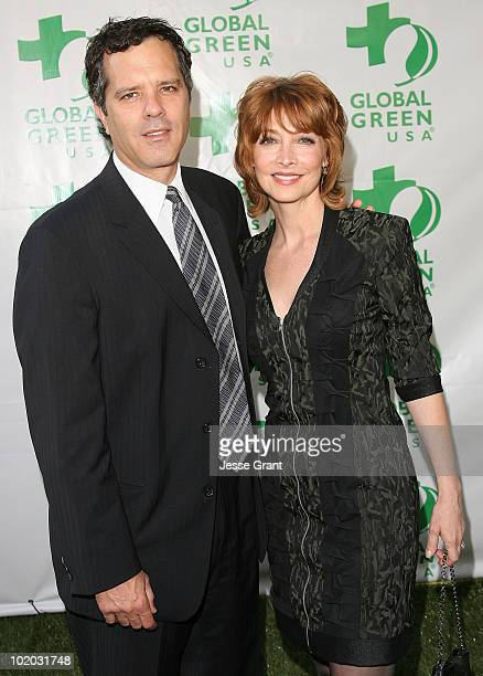Tom Apostle and Sharon Lawrence arrive at Global Green USA's 14th Annual Millennium Awards at the Fairmont Miramar Hotel on June 12 2010 in Santa...