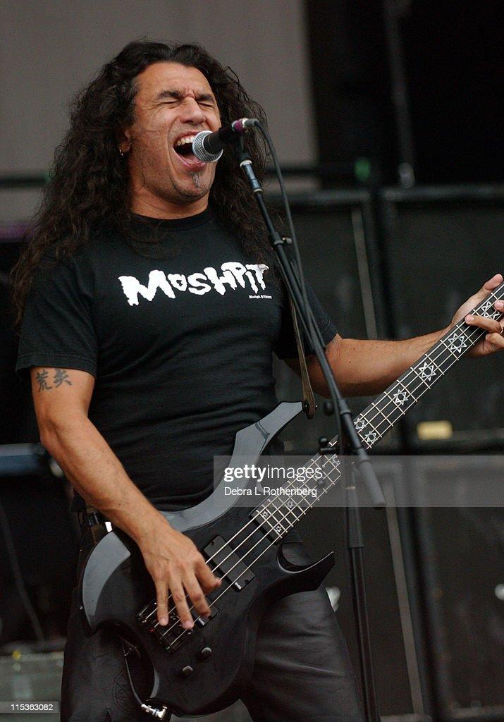 Tom Araya of Slayer during Ozzfest - July 14, 2004 at Jones Beach in Wantaugh, New York, United States.