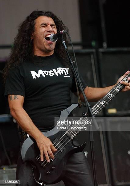 Tom Araya of Slayer during Ozzfest July 14 2004 at Jones Beach in Wantaugh New York United States