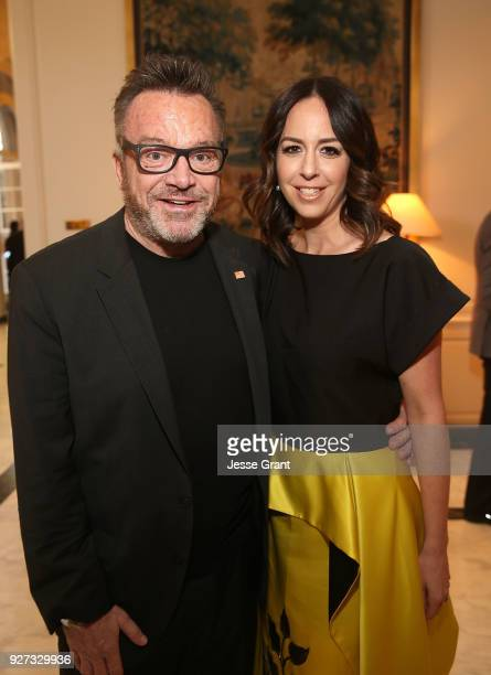 Tom Arnold and Ashley Groussman attend Byron Allen's Oscar Gala Viewing Party to Support The Children's Hospital Los Angeles at the Beverly Wilshire...