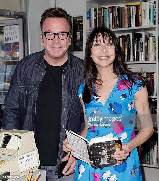 Tom Arnold and Illeana Douglas attend Illeana Douglas's book reading for 'I Blame Dennis Hopper' at Larry Edmunds Bookshop on March 26 2016 in...
