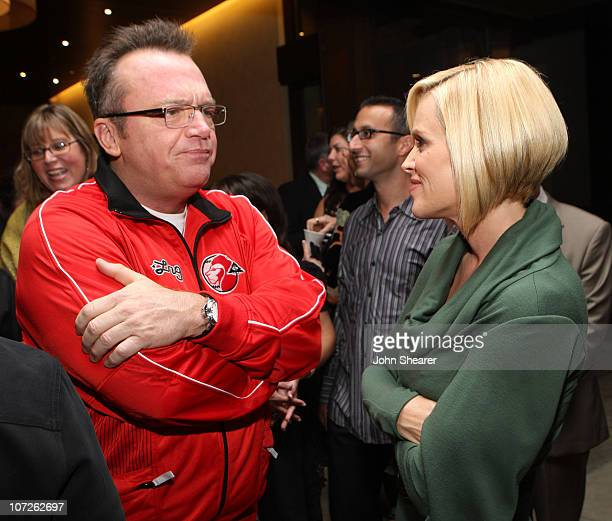 Tom Arnold and Jenny McCarthy attend a cocktail party for the UCLA Early Childhood Partial Hospitalization Program hosted by Jenny McCarthy on...