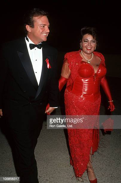 Tom Arnold and Roseanne during 44th Annual Emmy Awards at Pasadena Civic Center in Pasadena California United States