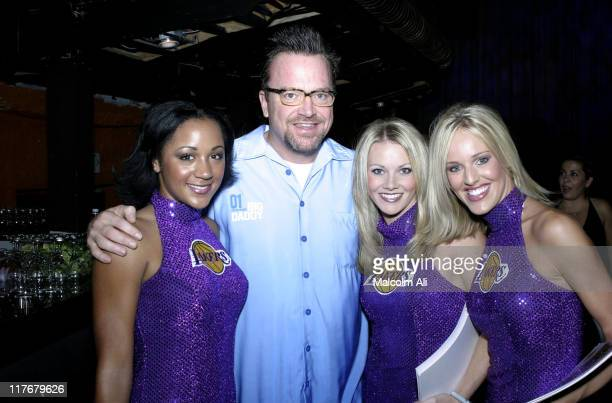 Tom Arnold and the Laker Girls during Shaquille O'Neal Hosts Pre-Season Party to Benefit the Lakers Youth Foundation at The New Avalon in Hollywood,...