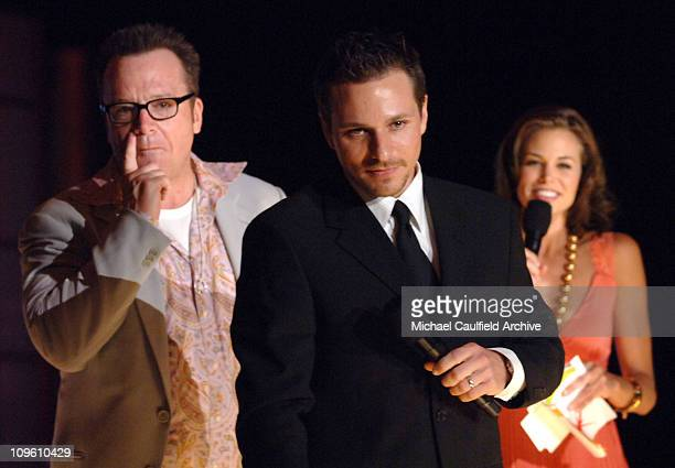 Tom Arnold, Drew Lachey, and Brooke Burns during 13th Annual Race to Erase MS Sponsored by Nancy Davis and Tommy Hilfiger - Show at Hyatt Regency...