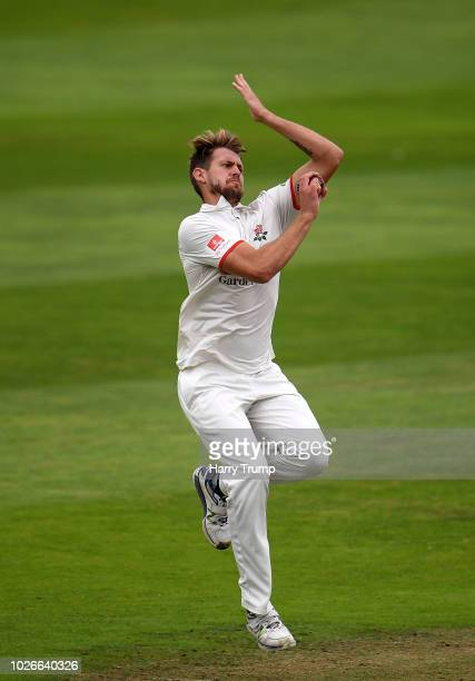Tom Bailey of Lancashire during Day One of the Specsavers County Championship Division One match between Somerset and Lancashire at The Cooper...