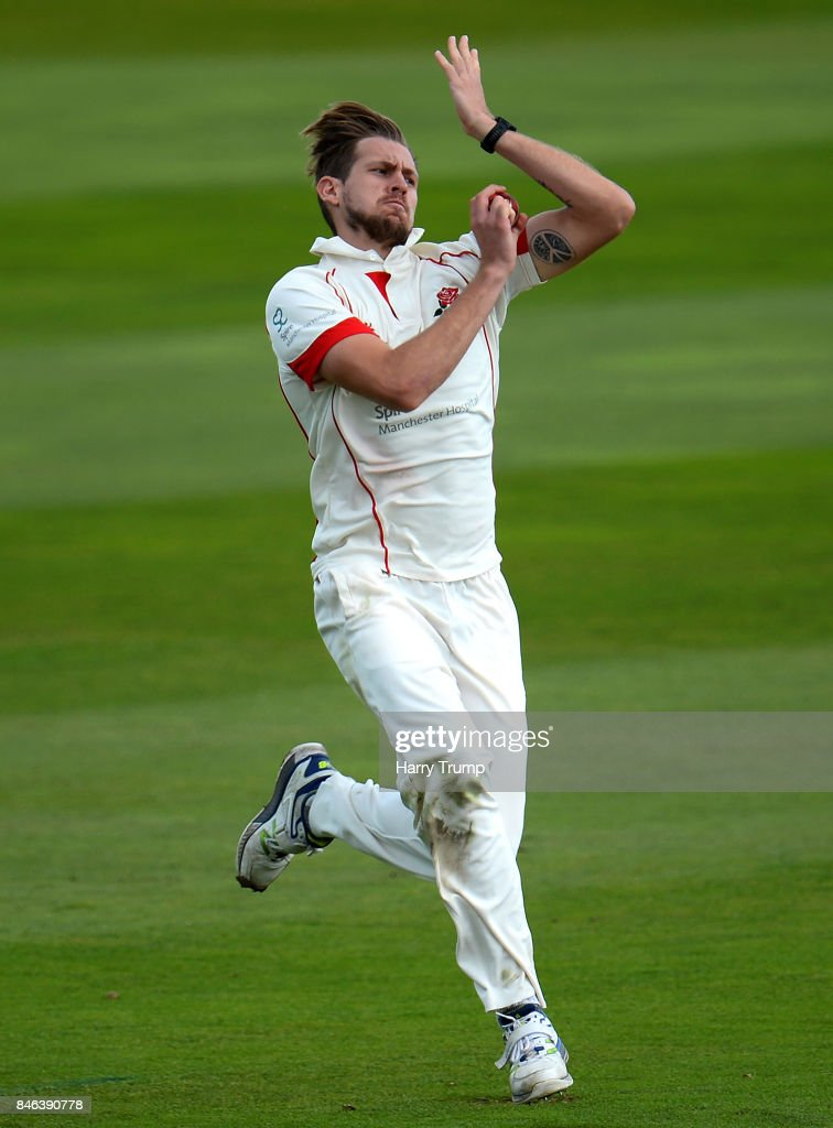 Tom Bailey of Lancashire during Day Two of the Specsavers County Championship Division One match between Somerset and Lancashire at The Cooper Associates County Ground on September 13, 2017 in Taunton, England.