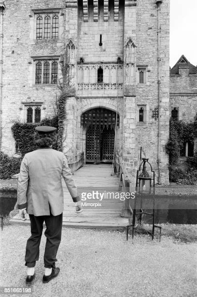 Tom Baker on location at Hever Castle where he is making a comedy film 18th August 1982