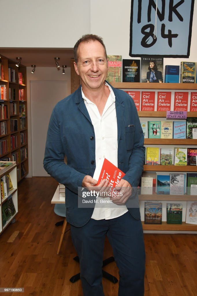 Tom Baldwin attends the launch of his new book 'Ctrl Alt Delete' at Ink 84 on July 12, 2018 in London, England.
