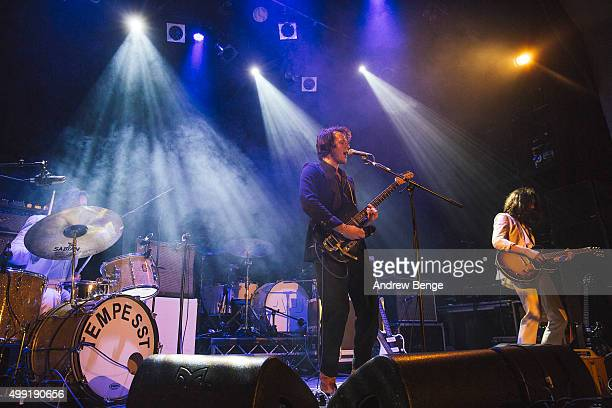Tom Banjanin and Andrea Benjamin of Tempesst performs on stage at Islington Assembly Hall on November 25 2015 in London England