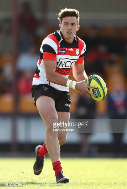 Tom Banks of the Vikings in action during the round three NRC match between Canberra Vikings and Western Force at Viking Park on September 16 2018 in...