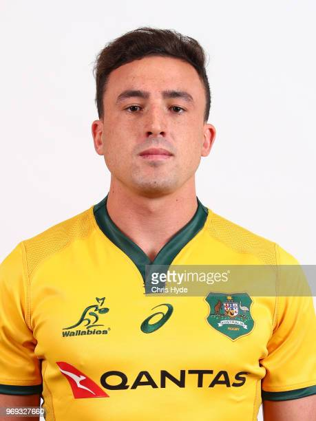 Tom Banks poses during the Australian Wallabies headshot session on May 7 2018 in Gold Coast Australia