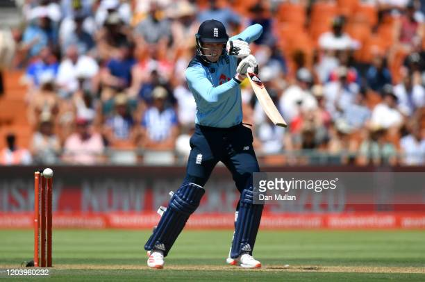 Tom Banton of England bats during the First One Day International match between South Africa and England at Newlands on February 04 2020 in Cape Town...