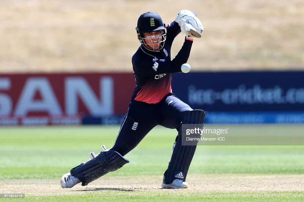 ICC U19 Cricket World Cup: New Zealand v England - 7th v 8th Playoff : Foto jornalística