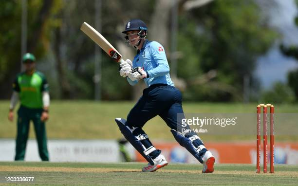 Tom Banton of England bats during the practice match between England and South Africa Invitation XI at Boland Park on February 01 2020 in Paarl South...