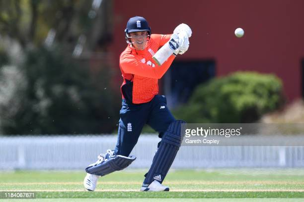 Tom Banton of England bats during the tour match between the New Zealand Xi and England at Bert Sutcliffe Oval on October 29 2019 in Lincoln New...