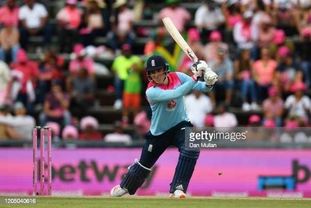 Tom Banton of England plays a shot during the 3rd One Day International match between England and South Africa on February 09 2020 in Johannesburg...