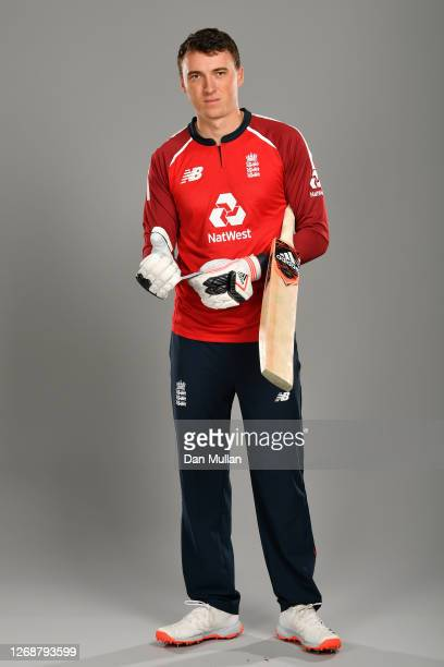 Tom Banton of England poses during the England Squad Portrait Session at Emirates Old Trafford on August 26, 2020 in Manchester, England.