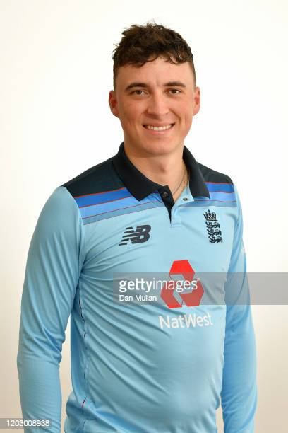 Tom Banton of England poses following a training session ahead of the first practice match against South Africa Invitation XI at Boland Park on...