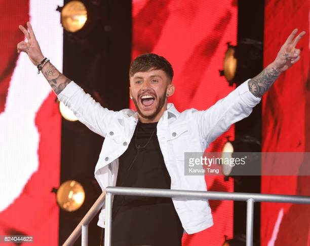 Tom Barber is evicted from the Big Brother house during the 2017 Big Brother Final at Elstree Studios on July 28 2017 in Borehamwood England
