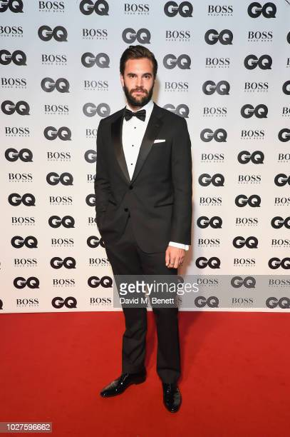 Tom Bateman attends the GQ Men of the Year Awards 2018 in association with HUGO BOSS at Tate Modern on September 5, 2018 in London, England.