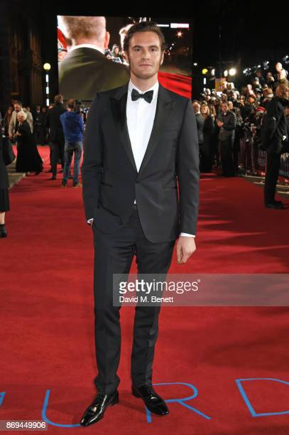 Tom Bateman attends the World Premiere of 'Murder On The Orient Express' at The Royal Albert Hall on November 2 2017 in London England