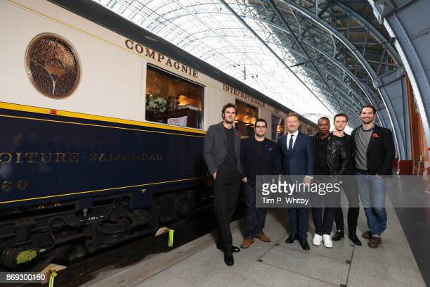 Tom Bateman Josh Gad Kenneth Branagh Leslie Odom Sergei Polunin and Manuel Garc'aRulfo attend the Murder on the Orient Express photo call at St...