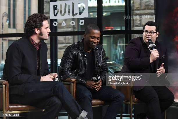 Tom Bateman, Leslie Odom Jr. And Josh Gad attend the Build Series to discuss the new film 'Murder on The Orient Express' at Build Studio on November...