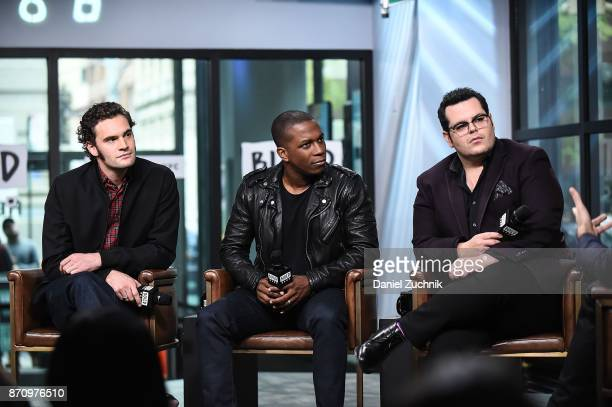 Tom Bateman Leslie Odom Jr and Josh Gad attend the Build Series to discuss the new film 'Murder on The Orient Express' at Build Studio on November 6...