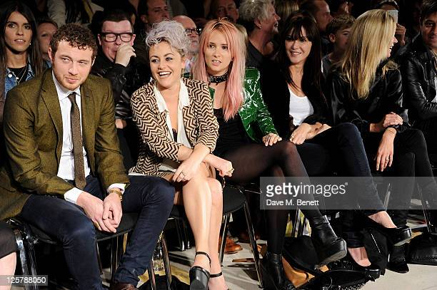Tom Beard Jaime Winstone Sharna Liguz Annabelle Neilson and Kate Moss attend the James Small Menswear Spring/Summer 2012 runway show during London...