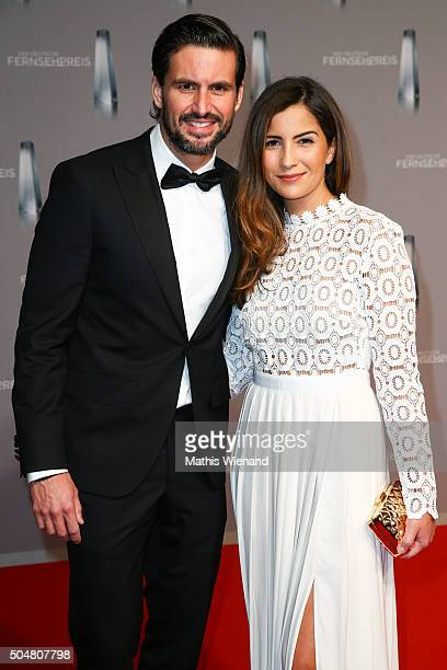 Tom Beck and Chryssanthi Kavazi attend the German Television Award at Rheinterrasse on January 13 2016 in Duesseldorf Germany