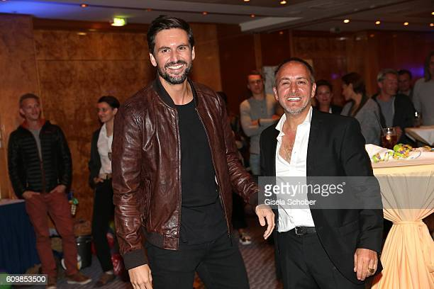 Tom Beck and Erdogan Atalay 'Alarm fuer Cobra 11' during the surprise party for Erdogan Atalay's 50th birthday at Hotel Arkona on September 22 2016...