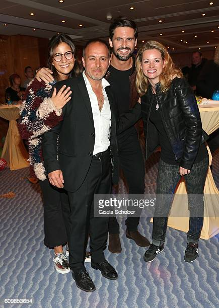 Tom Beck and his girlfriend Chryssanthi Kavazi and Erdogan Atalay and his partner Katja Ohneck during the surprise party for Erdogan Atalay's 50th...