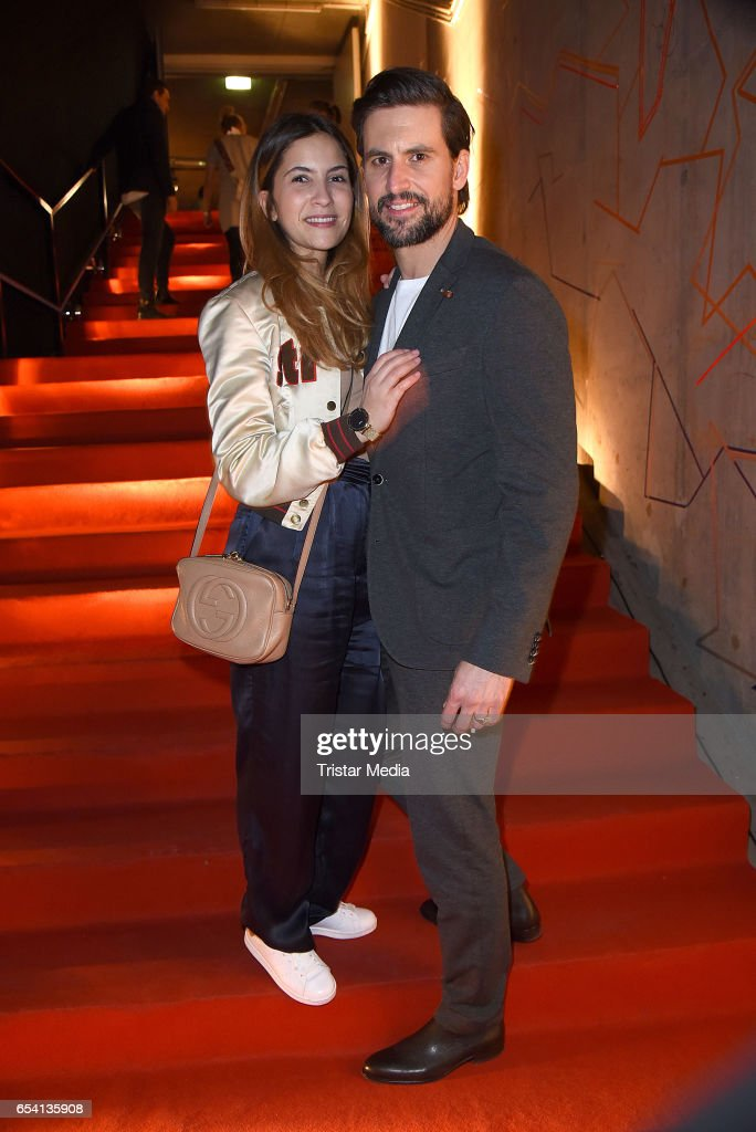 Tom Beck and his girlfriend Chryssanthi Kavazi attend the After Party of the premiere of the Amazon series 'You are wanted' at CineStar on March 15, 2017 in Berlin, Germany.