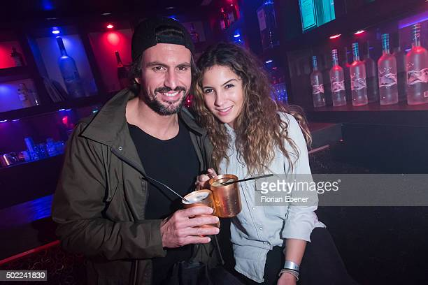 Tom Beck and his girlfriend Chryssanthi Kavazi attend the aftershow party of premiere for the film 'Bruder vor Luder' at Ivory on December 20 2015 in...