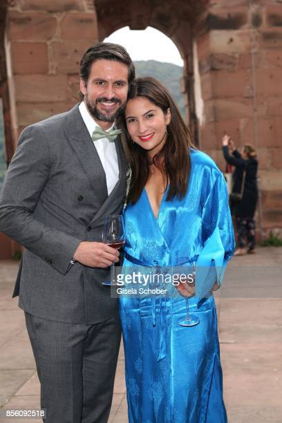 Tom Beck and his girlfriend Chryssanthi Kavazi during the church wedding of Erdogan Atalay and Katja Ohneck at Heidelberg Castle on September 30 2017...