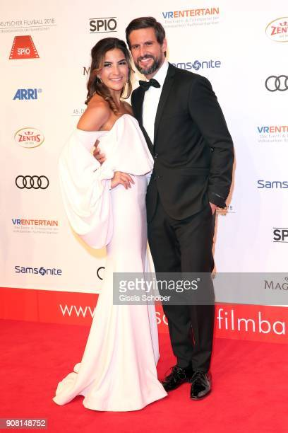 Tom Beck and his girlfriend Chryssanthi Kavazi during the German Film Ball 2018 at Hotel Bayerischer Hof on January 20 2018 in Munich Germany