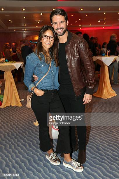 Tom Beck and his girlfriend Chryssanthi Kavazi during the surprise party for Erdogan Atalay's 50th birthday at Hotel Arkona on September 22 2016 in...
