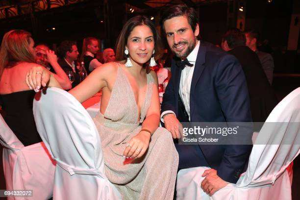 Tom Beck and his girlfriend Chryssanthi Kavazi during the Toni Kroos charity gala benefit to the Toni Kroos Foundation at 'The Palladium' on June 9...